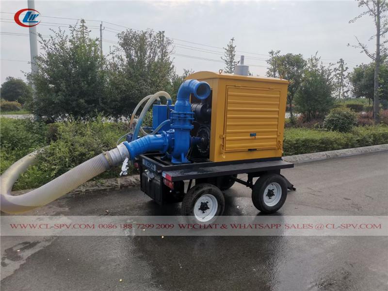 trailer mounted rescue self priming pump