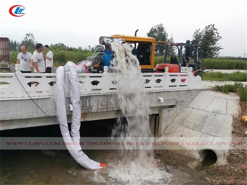 test de la station de pompage d'eau de sauvetage et d'évacuation des crues