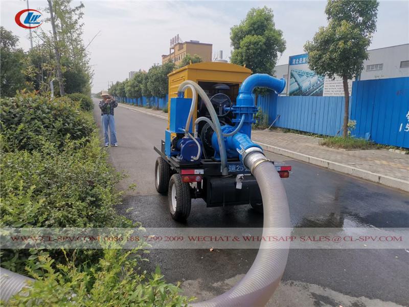 pompe à eau de drainage d'inondation montée sur remorque