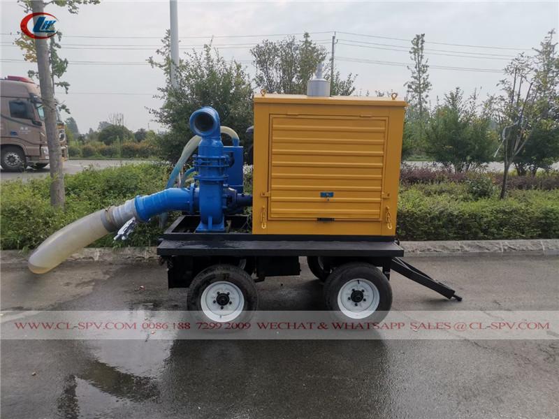 pompe à eau de sauvetage montée sur remorque