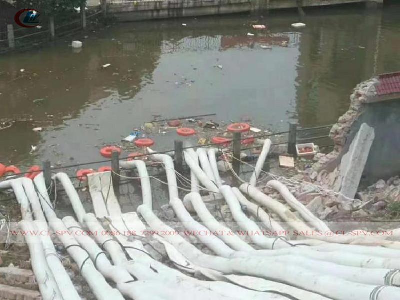 vraies cales de sauvetage et pompe à eau de drainage des inondations