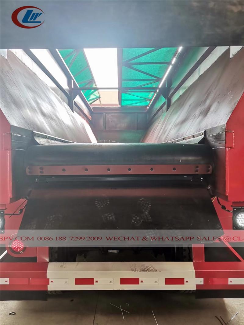 Dongfeng Crawler conveyor belt self unloading dump trailer