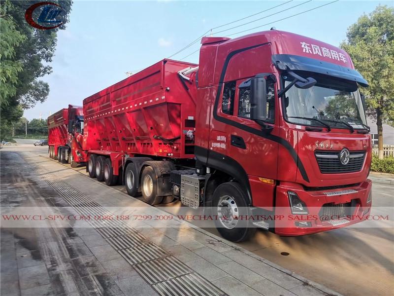 Dongfeng self unloading dump trailer