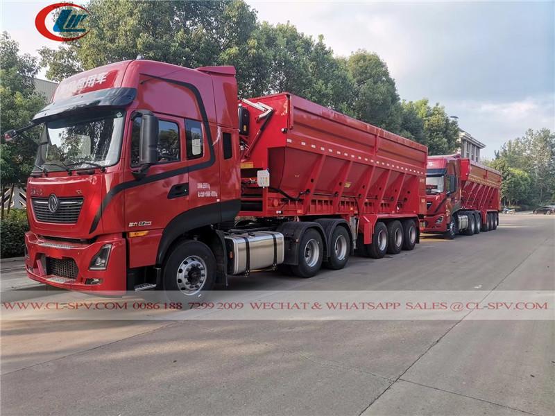 Dongfeng Crawler conveyor belt dump trailer