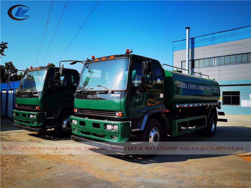شاحنة مياه ايسوزو FVR - 15000 ليتر