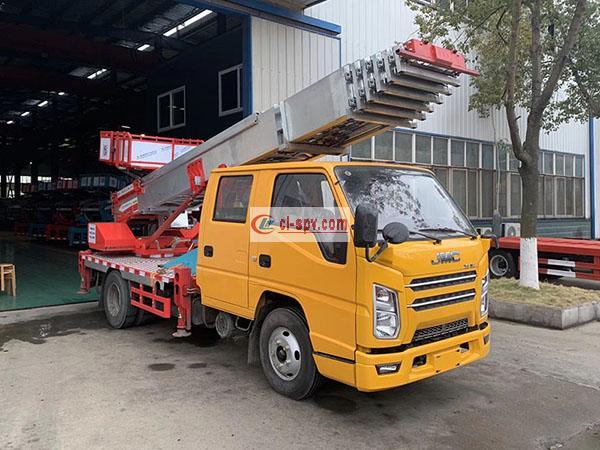 JMC aerial ladder truck