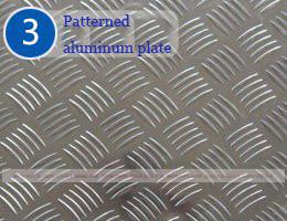 نمونہ شدہ ایلومینیم پلیٹ۔