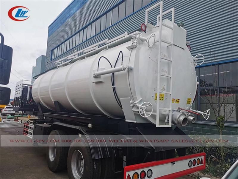 3 axles vacuum sewage tank trailer