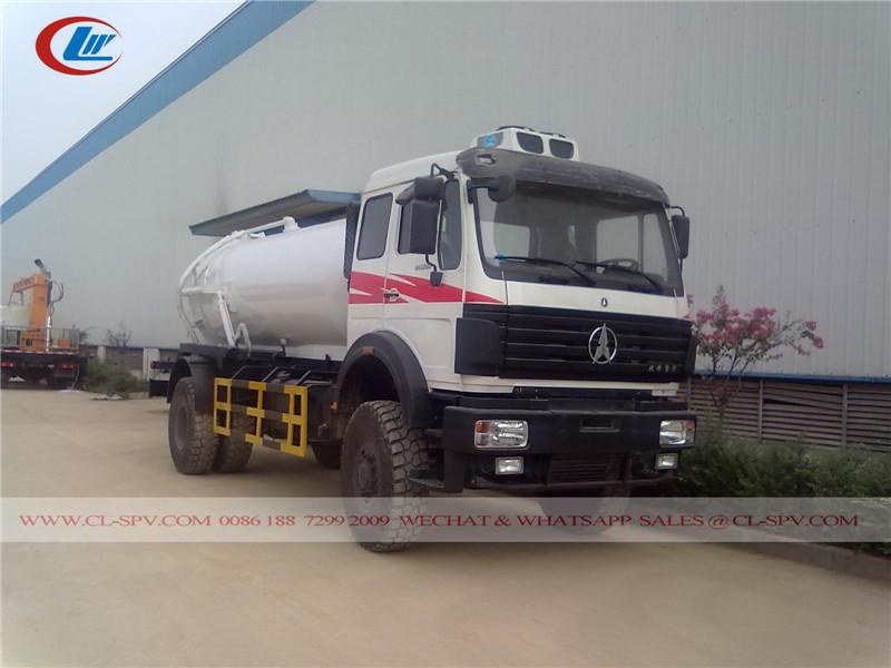 Beiben 10000 litres camion d'égout sous vide