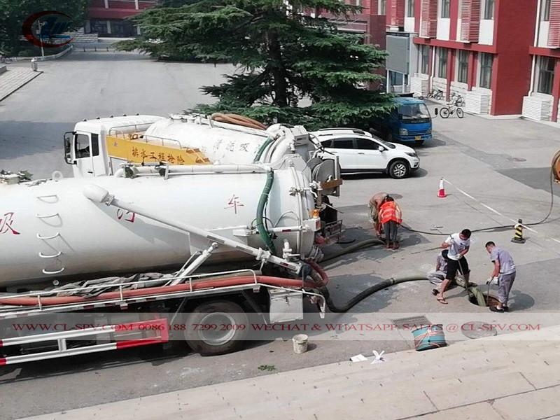 Beiben 8000 litres camion d'égout sous vide