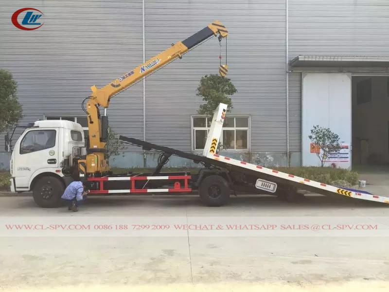 Dongfeng 3 вредитель тонн с краном