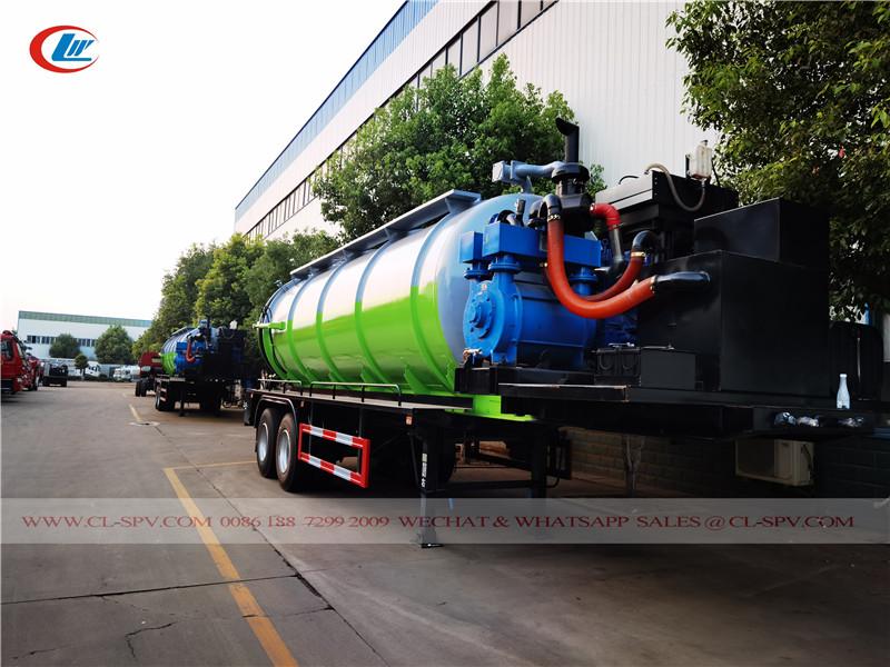 trailer mounted vacuum sewage suction tank