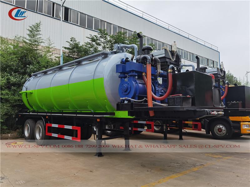 25000 l sewage tank trailer