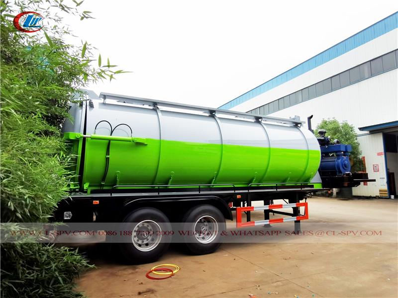 20000 л вакуумный прицеп для сточных вод