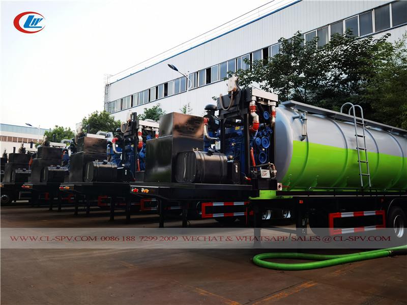 vacuum sewage suction tank trailer