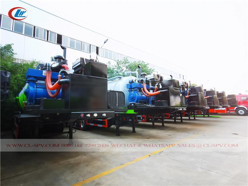 trailer mounted sewage suction tank