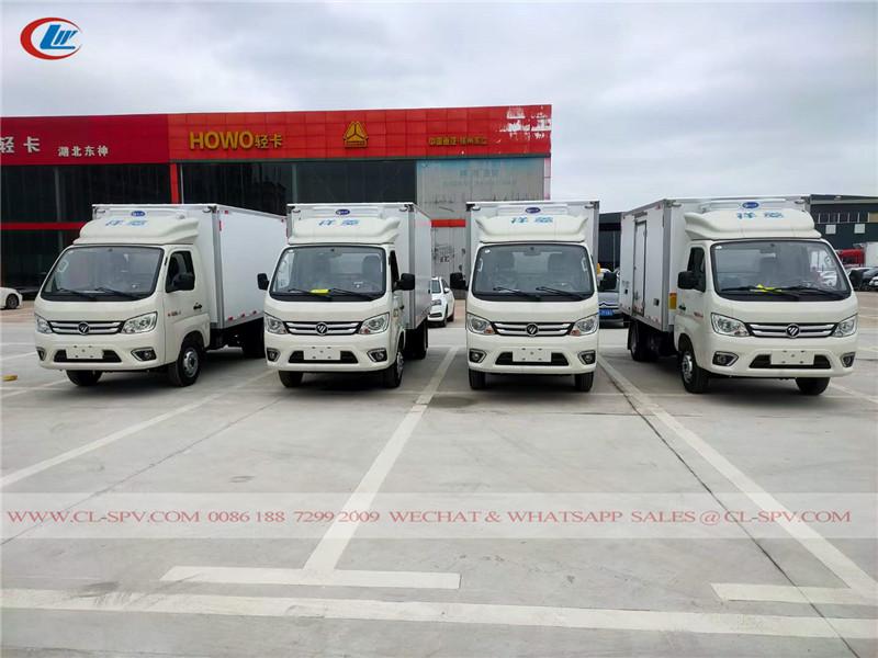 Foton refrigerated truck to Uzbekistan