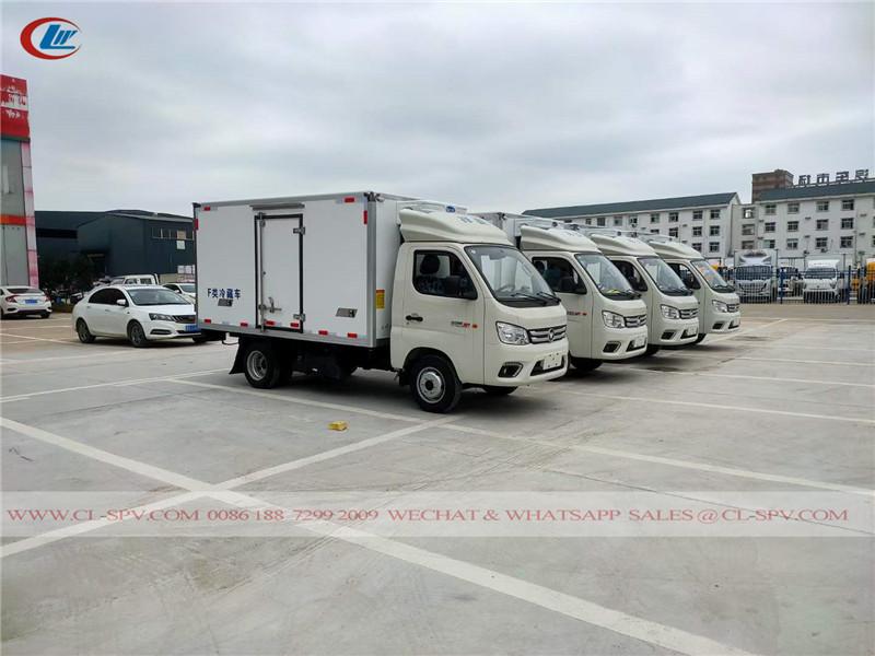 Foton gasoline refrigerated truck to Uzbekistan