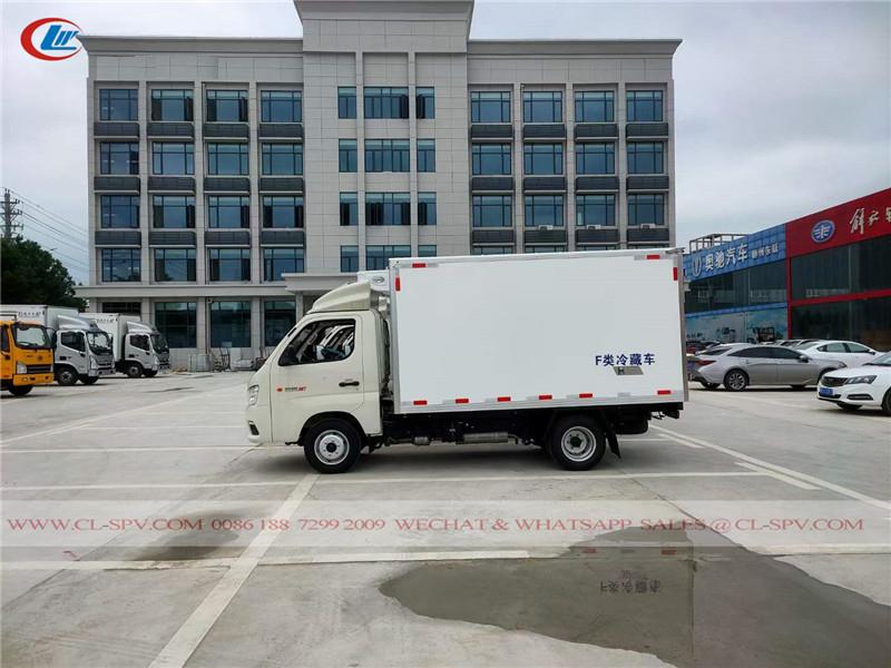 Foton 2 tons refrigerated truck to Uzbekistan