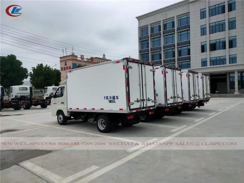Foton reefer van truck to Uzbekistan